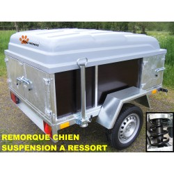 Remorque transport chien suspension à ressorts M175