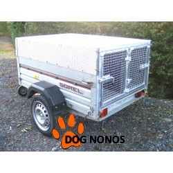 Remorque occasion transport chien 2 boxes