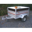 Remorque occasion transport chien 3 boxes