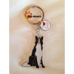 Porte clef Chien Border Collie