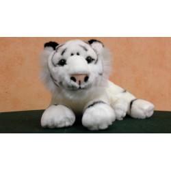 Tigre blanc, panthère noire, lion, couché