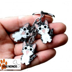 Porte clef Chat assis