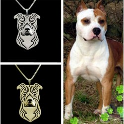 Pendentif 3D American Staffordshire Terrier