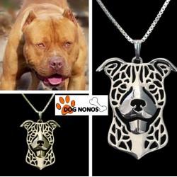 Pendentif 3D Pitbull terrier