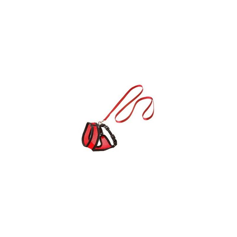 Harnais chat rouge noir