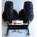 4 Moyeux + 4 roues complètes sur balancier Boggie