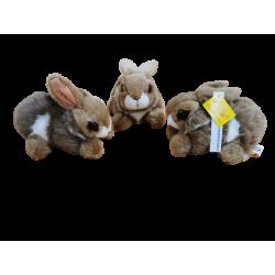Lot de 3 lapins Plush's ans Co