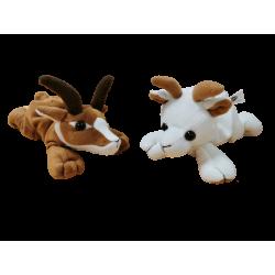 Lot de 2 peluches chèvre CP