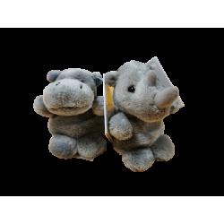 Lot de 1 Hippopotame et 1...