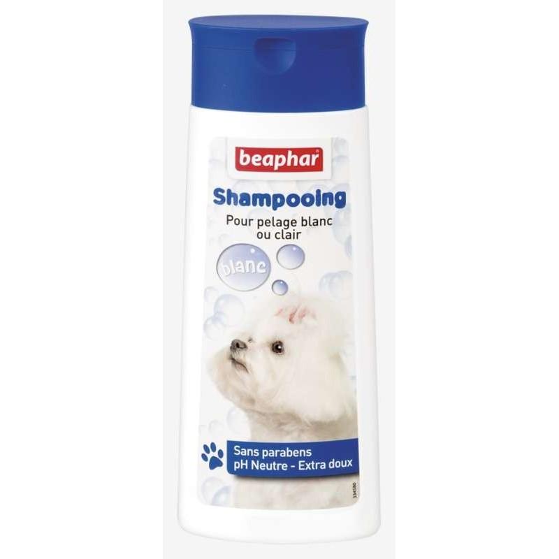 Shampooing pour pelage blanc ou clair 250ml