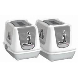 Maison de toilette motif chat